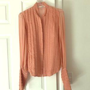 Gorgeous Diane von furstenberg ruched silk blouse
